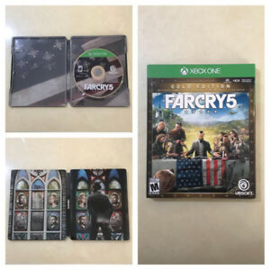 Far cry 5 with collectors steel case