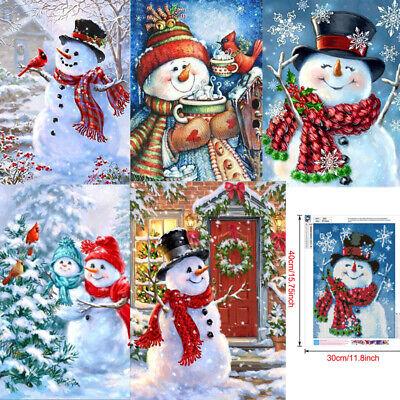 1X Full Drill Christmas 5D Diamond DIY Painting Embroidery Cross Stitch Craft