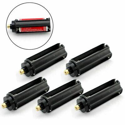 5pcs 3AAA Battery Plastic Holder Box Case Cylindrical Type for 18650 Flashlight