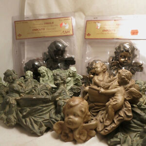 Lot 9 Nine Pieces Cherub Angels Wall Sconces Shelves Fountains Kitchener / Waterloo Kitchener Area image 2