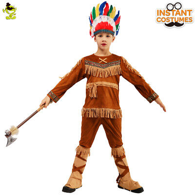 Kid's Caveman Cartoon Funny Character Animal Halloween RolePlay Suit for Party