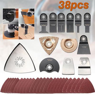 New 38pcs Mix Oscillating Multi Tool Saw Blades For Fein Bosch Makita Multitool
