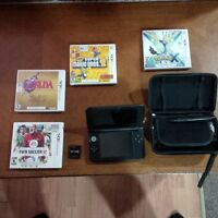 Nintendo 3DS XL with case and games