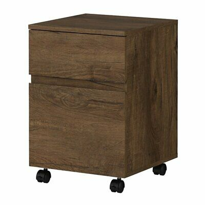 Bush Anthropology 2 Drawer Mobile File Cabinet In Rustic Brown
