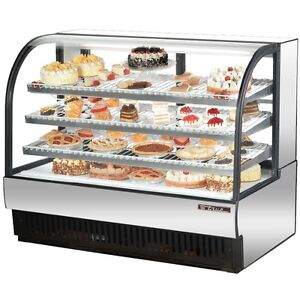 "True Stainless Steel 59"" Curved Refrigerated Bakery Case"