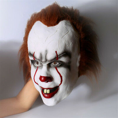 Movie Stephen King's IT Clown Pennywise Halloween Cosplay Scary Mask Costume - Clown Halloween Movies