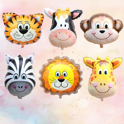Animal Head Balloons Helium Foil Ballons Baby Shower Birthday Party Decoration #