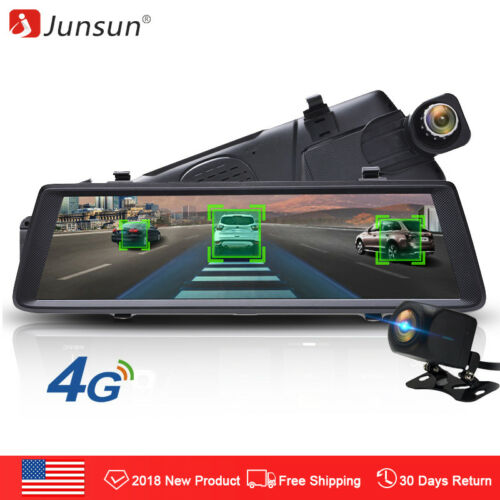"Junsun 10"" Dash Camera ADAS Car DVR Mirror 4G FHD 1080P Dual"