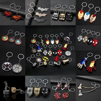 Alloy Avengers Batman Keychain Movie Superhero Key Rings Bag Pendant Hang Gifts