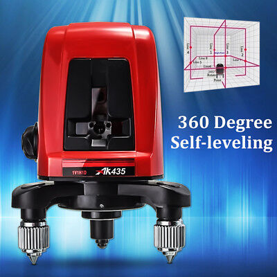 Ak435 360 Degree Self-leveling Cross Laser Level 2 Line 1 Point Horizontal Bag