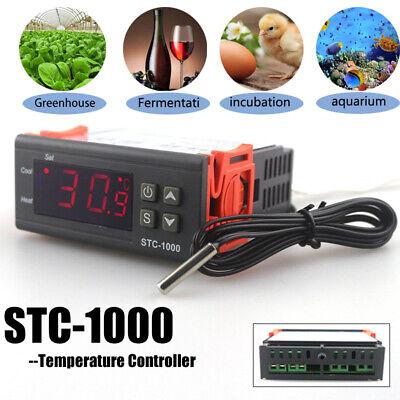 110v Universal Stc-1000 Digital Temperature Controller Thermostat W Sensor Ac