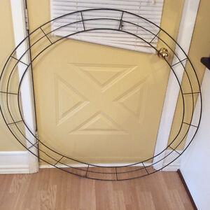 45 inch diameter metal wreath frame