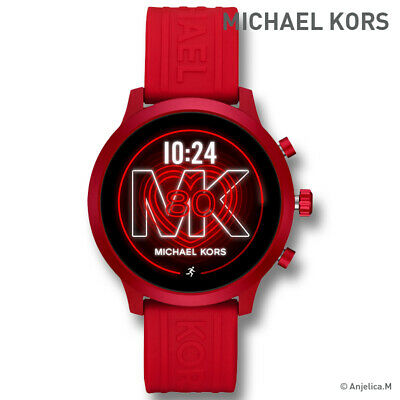 NWT! MICHAEL KORS Access Gen 4 MKGO Red-Tone and Silicone Smartwatch