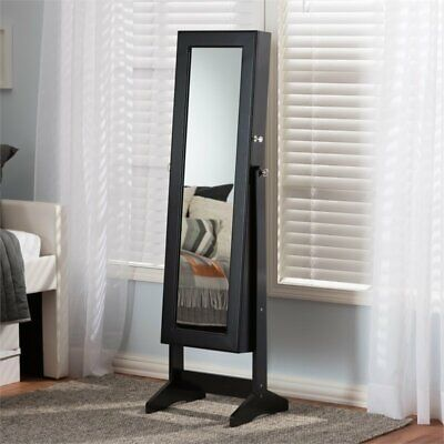 Contemporary Wood Jewelry Armoires (Alena Mirrored Jewelry Armoire in)