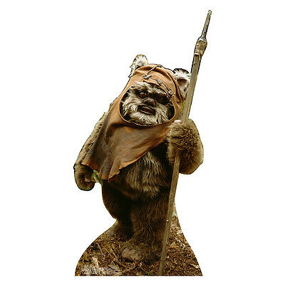 WICKET THE EWOK Star Wars Warwick Davis CARDBOARD CUTOUT Standup Standee Poster - Star Wars Cardboard