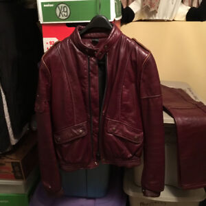 Ladies Size Small Motorcycle Jacket & Chaps