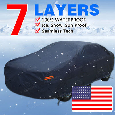 7 Layer Full Car Cover Outdoor Indoor All Weather Snow Sun UV Dust Scratchproof