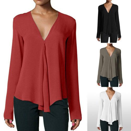 Women New Elegant Fashion Long Sleeve Print Office Lady Blouse Top Shirt 13CA