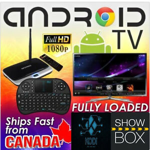 QUAD-CORE Android TV &Rechargable Wireless Keyboard/Mouse