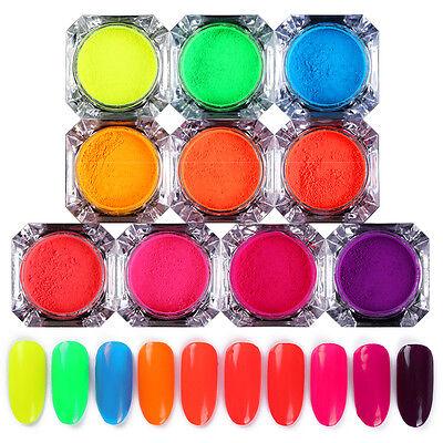 Neon Phosphor Nail Powder Colorful Nail Art Pigment Dust Design Decorations - Neon Colors Decorations