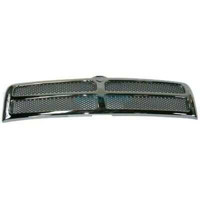 New Grille Chrome Frame Fits 1994-2002 Dodge Ram 2500 CH1200178 55055252