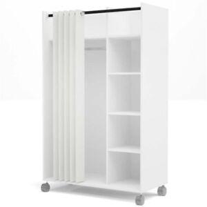 Tvilum Mobile Wardrobe Storage Cabinet Five shelves Closet space