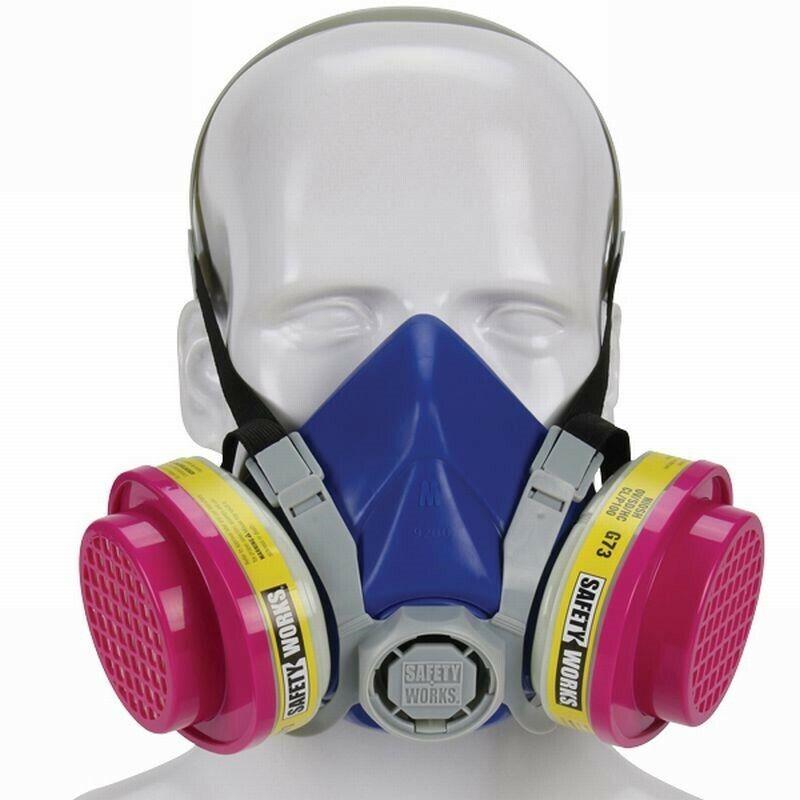Safety Works Multi-Purpose Half-Mask Respirator