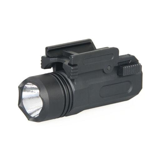 Tactical LED Flashlight w// Strobe Weaver //Picatinny For Glock17 19 20 23 22 21
