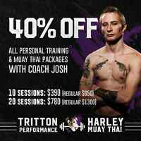 40 % off personal training sessions!