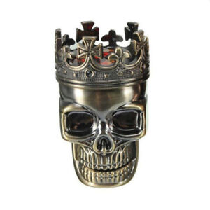 Crown Creative Skull Metal Tobacco Weed Grinding Grass Grinder