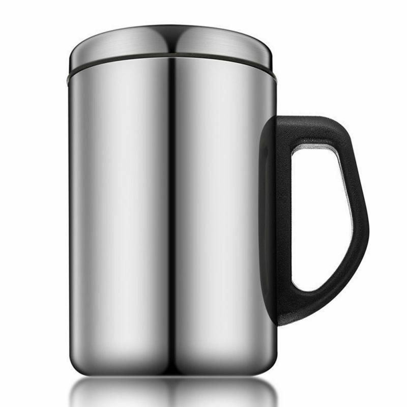 Stainless Steel Mug Thermos Cup with Handle Camping Travel P