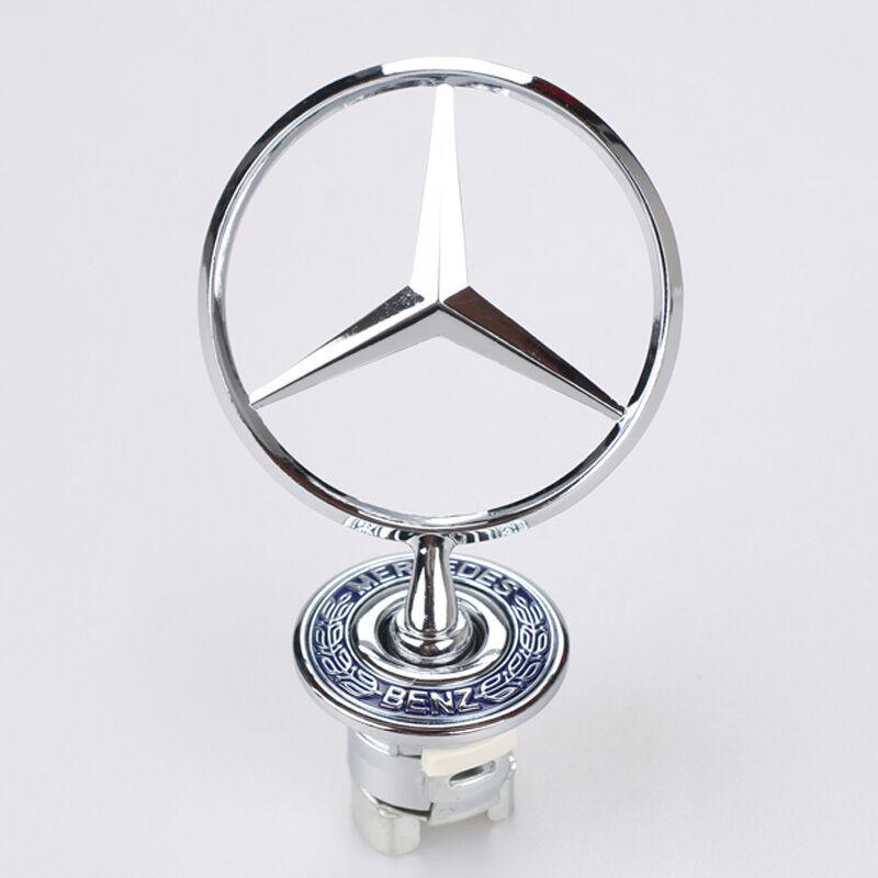 Mercedes-Benz Star Hood Logo 3D Gold Emblem Badge For W202 W204 W221 W208 W220