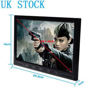 10.1/10 inch Surveillance PC CCTV Monitor HDMI VGA AV Input Built-in Speaker New
