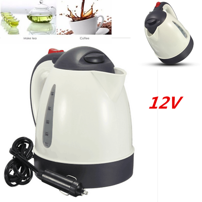 12V Portable Car Kettle Set Motor Home Water Heater Boiler For Tea Cof