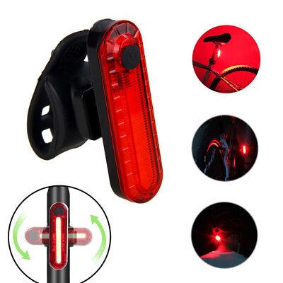 5 LED USB Impermeable Bicicleta Inteligente Luces Sentido Luz de Freno Cola