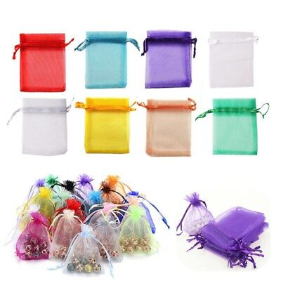 100pcs Organza Wedding Favor Gift Bags Jewelry Candy Bag Pear Mash Pouches 2Size - Pear Wedding Favor