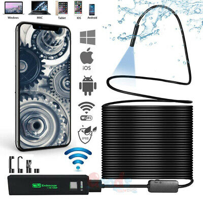16ft Wifi Endoscope Borescope Waterproof Inspection Snake Camera For Iphone Ios