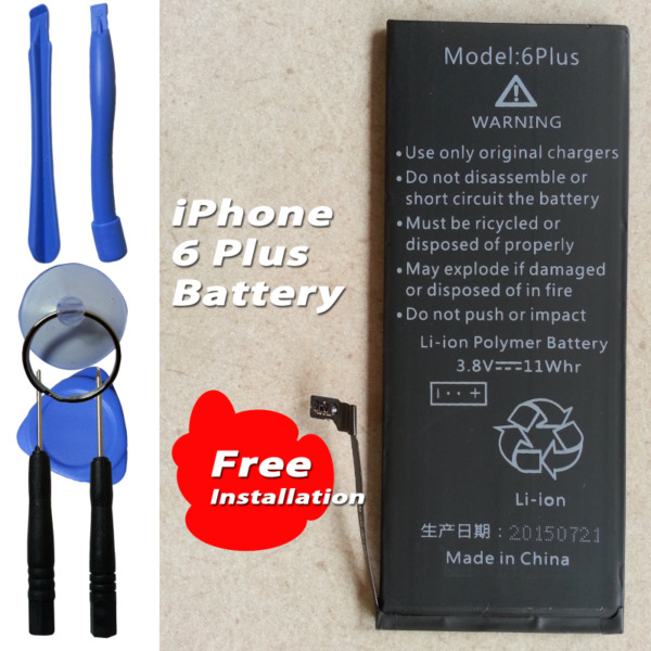 Apple iPhone 6 Plus Internal Battery 3.8V Capacity: 2900mAh 616-0765 include Tools Kits