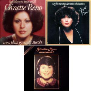 Vinyles-3 albums 4 disques de GINETTE RENO-20$ le lot.