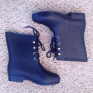 Blue Rain Boots, size 8