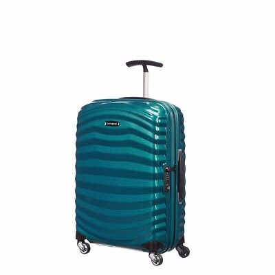 "NEW Samsonite Lite Shock 28"" PETRO BLUE Carry on Luggage 4-wheeled 80316-1686"