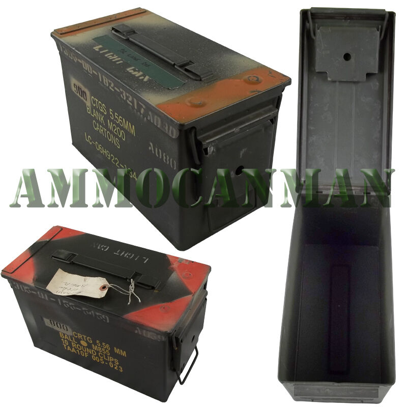 24 CANS Grade 2  50 cal empty ammo cans 24 Total  FREE SHIPPING