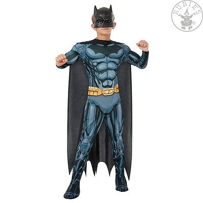 DeLuxe BATMAN Lizenz Kostüm + MASKE Overall Anzug+Cape/Umhang Fledermaus