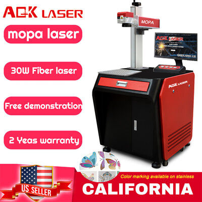 Aok Laser Mopa Fiber Laser 30w M1 Engraving Color Marking Machine