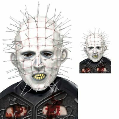 Hellraiser Pinhead Maske Kostüm Unheimlich Latex Nagelkopf Maske Halloween (Halloween Pinhead Kostüm)