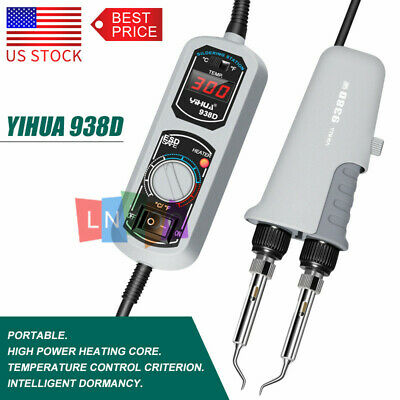 Yihua 938d 220 110v Portable Hot Tweezers Mini Soldering Iron Station Heat Core