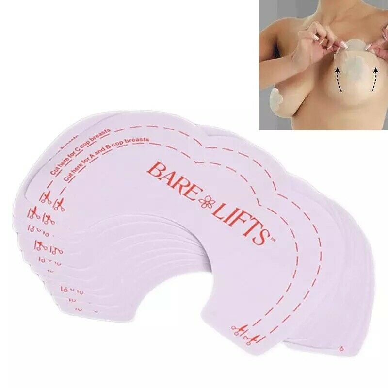 5-10 Breast Lifts Invisible Bra Tape Boob Shape Nipple Cover Push Up Stickers