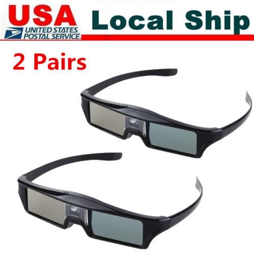 2Pcs 96-144Hz 3D Glasses Active Rechargeable for BenQ Optoma DLP-Link Glasses
