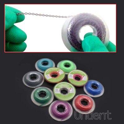 Dental Orthodontic Elastic Ultra Power Rubber Chain Long Short Closed 10 Colors