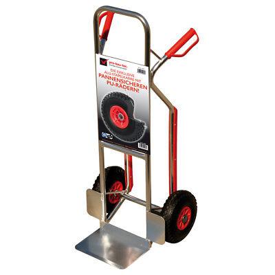 Alu Sackkarre Stapelkarre 150 KG leicht mit Treppenrutsche + PU Räder PANNENFREI